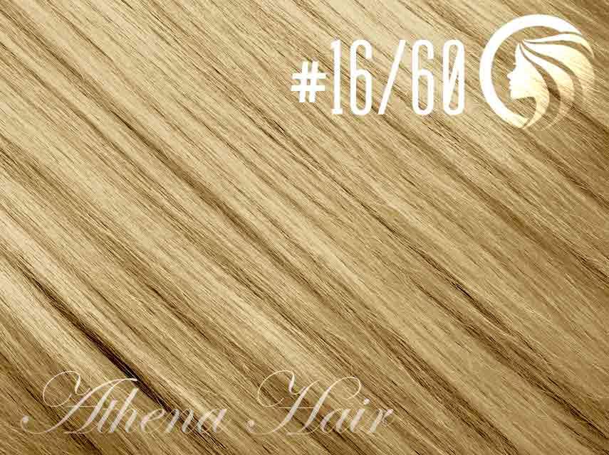 #16/60 Ash Blonde/Blonde – 18″ – 0.5 gram – uTip – Athena (50 strands per packet)