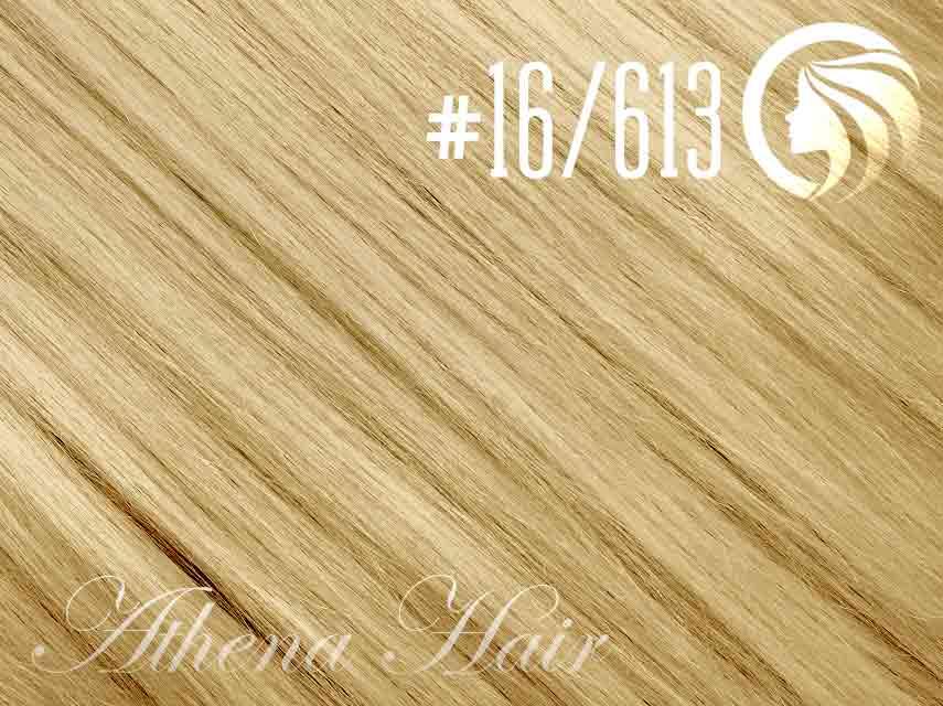 #16/613 Ash Blonde/Blonde – 18″ – 0.5 gram – uTip – Athena (50 strands per packet)