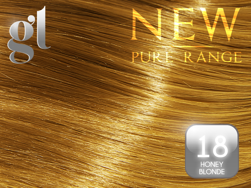 #18 Honey Blonde – 20″ - 0.8 gram – Nano Tip - Pure Range (25 Strands)