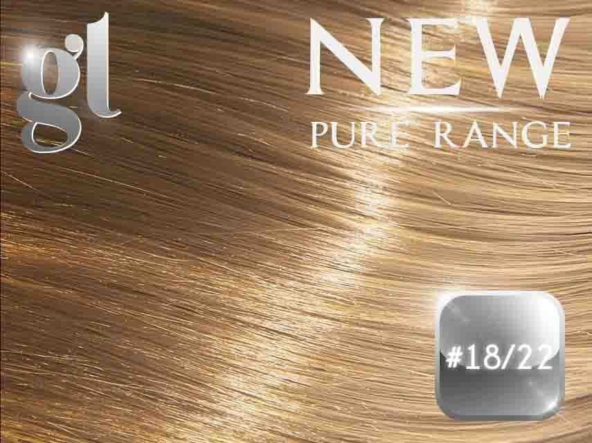 #18/22 Honey Blonde/Light Neutral Blonde – 20″ - 0.8 gram – iTip - Pure Range Highlight (25 Strands)