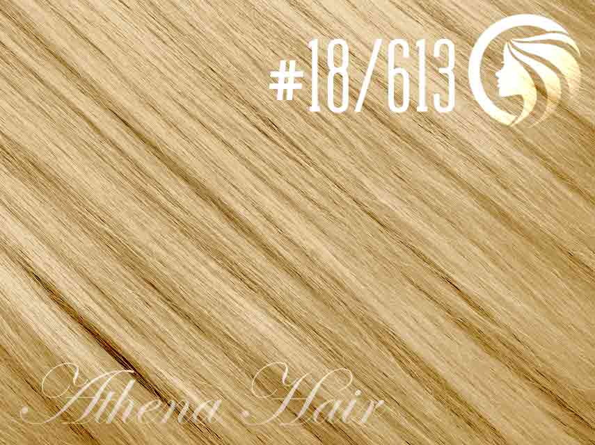 #18/613 Honey Blonde/Blonde – 18″ – 0.5 gram – uTip – Athena (50 strands per packet)