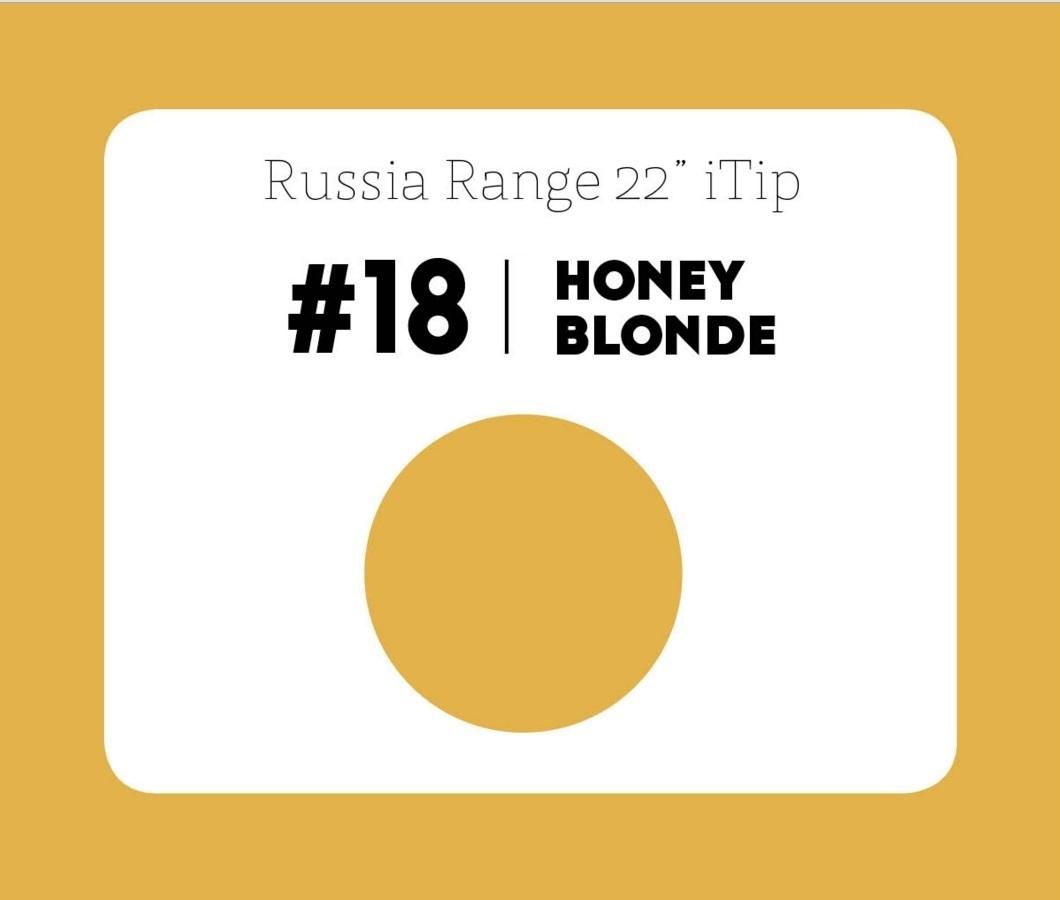 #18 Honey Blonde – 22″- 0.6gram – iTip – Russia Range