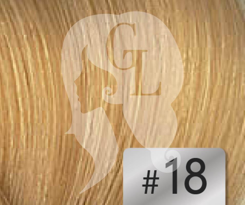 #18 Honey Blonde – 18″- 1 gram – Nano (25 strands per packet)