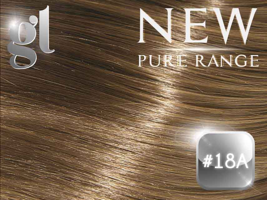 #18A Ash Honey Blonde (NEW Nano tip) – 20″ - 0.8 gram – Pure Range (25 Strands)