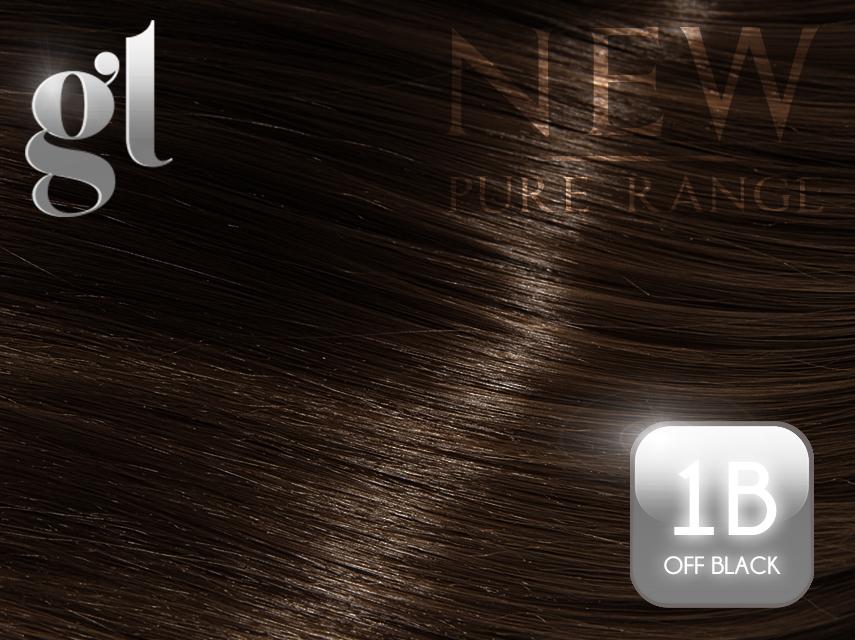 #1B Off Black – 20″ - 0.8 gram – Nano Tip - Pure Range (25 Strands)