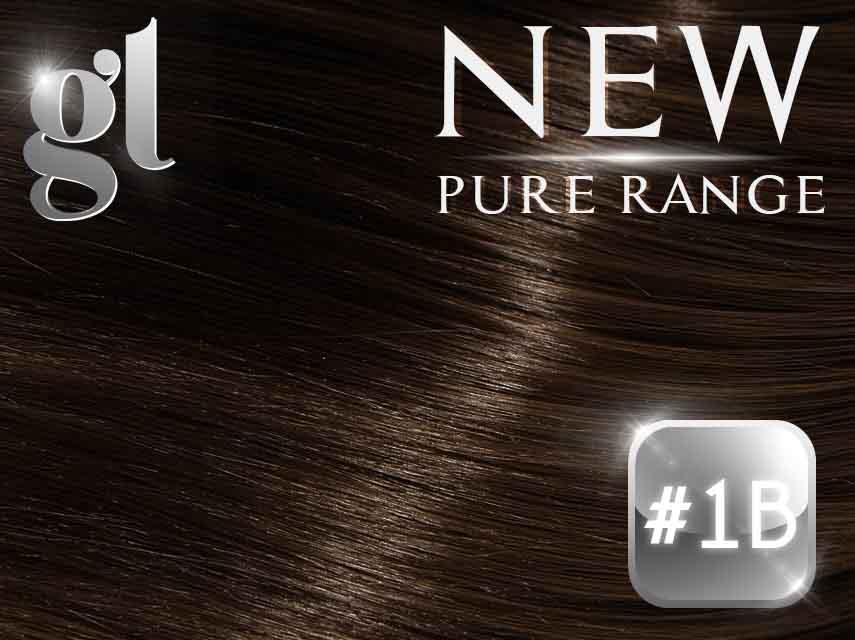 #1B Off Black – 20″ - 0.8 gram – iTip - Pure Range (25 Strands)