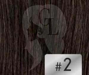 #2 Dark Brown – 18″ – 1 gram – U Tip – Athena Range (25 strands per packet)