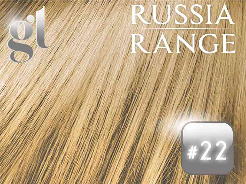 #22 Light Neutral Blonde – 22″- 0.6gram – uTip – Russia Range (50 strands per packet)