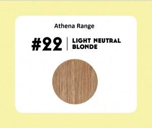 #22 Light Neutral Blonde – 18″ – 1 gram – iTip – Athena Range (25 strands per packet)