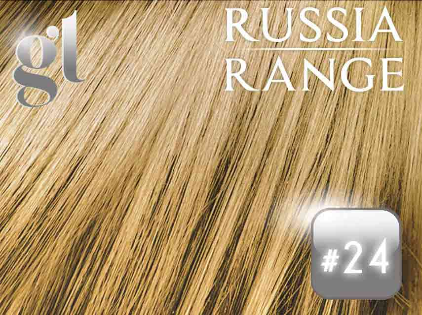 #24 Golden Blonde – 22″- 0.6gram – uTip – Russia Range (50 strands per packet)