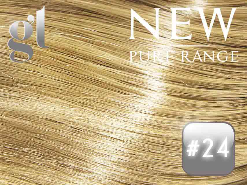 #24 Golden Blonde (NEW Nano tip) – 20″ - 0.8 gram – Pure Range (25 Strands)