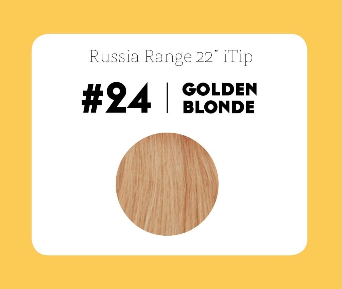 #24 Golden Blonde – 22″- 0.6gram – iTip – Russia Range