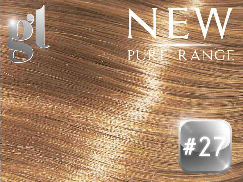 #27 Strawberry Blonde (NEW Nano tip) – 20″ - 0.8 gram – Pure Range (25 Strands)