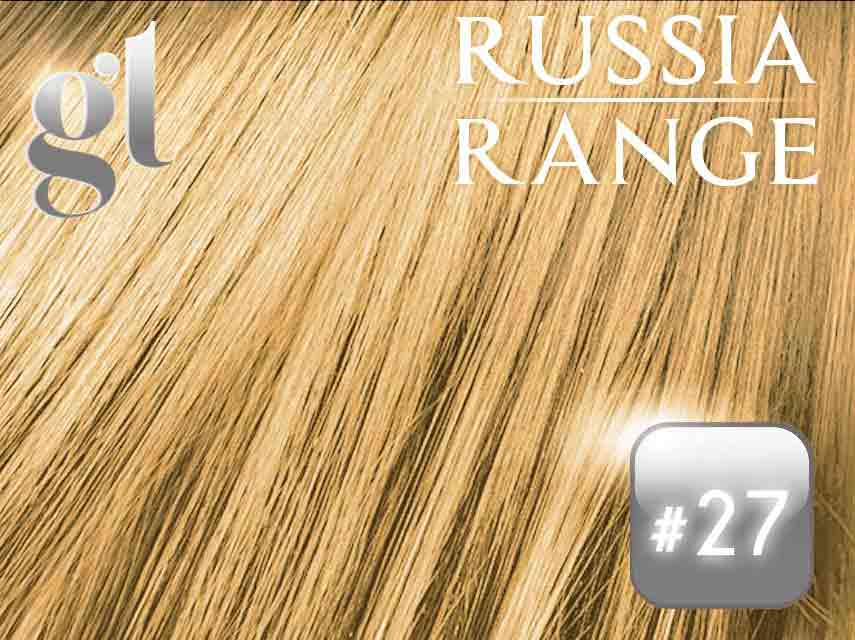 #27 Strawberry Blonde – 20″ – 0.6gram – uTip – Russia Range(50 strands per packet – 30 grams)
