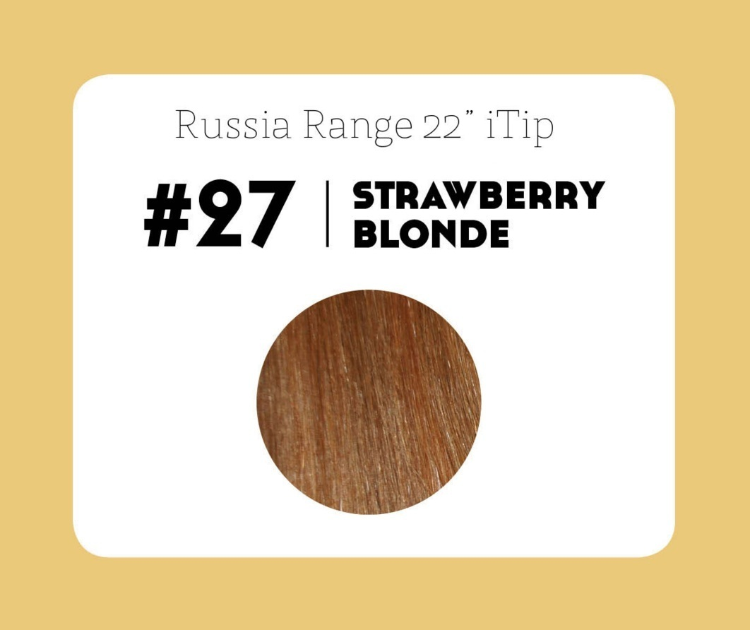 #27 Strawberry Blonde – 22″- 0.6gram – iTip – Russia Range