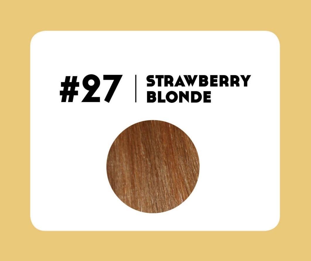 #27 Strawberry Blonde – 18″ – 1 gram – Nano (25 strands per packet)