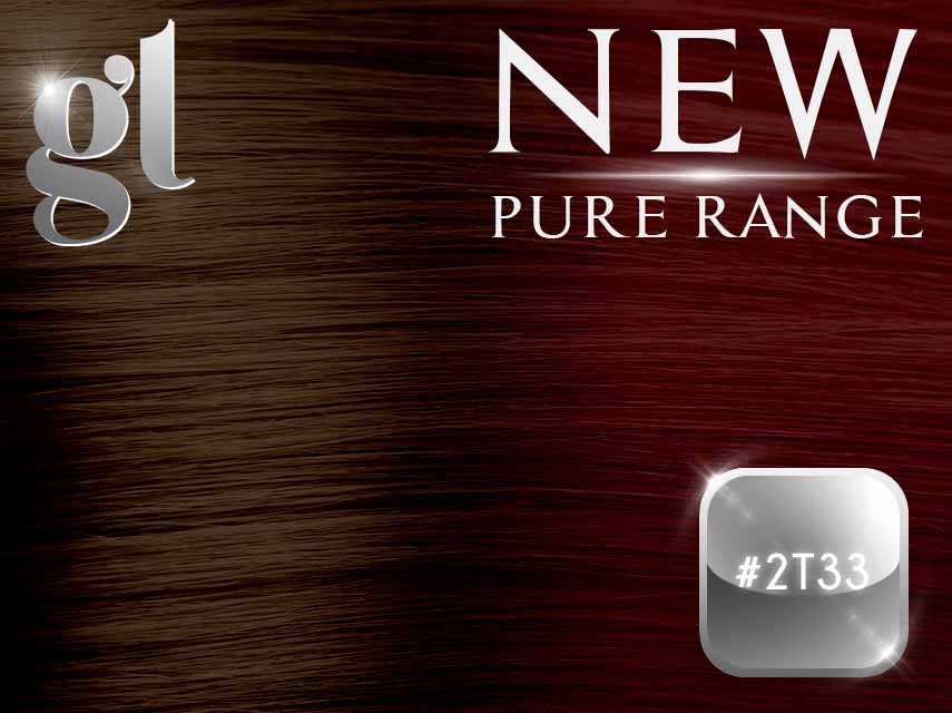 #2T33 Dark Brown/Copper Red – 20″ - 0.8 gram – iTip - Pure Range Ombre (25 Strands)