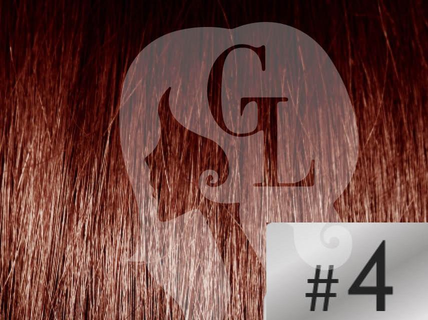#4 Chocolate Brown – 18″ – 1 gram – U Tip – Athena Range (25 strands per packet)