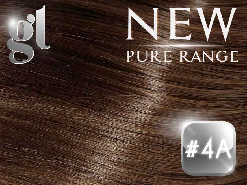 #4A Ash Chocolate Brown (NEW Nano tip) – 20″ - 0.8 gram – Pure Range (25 Strands)