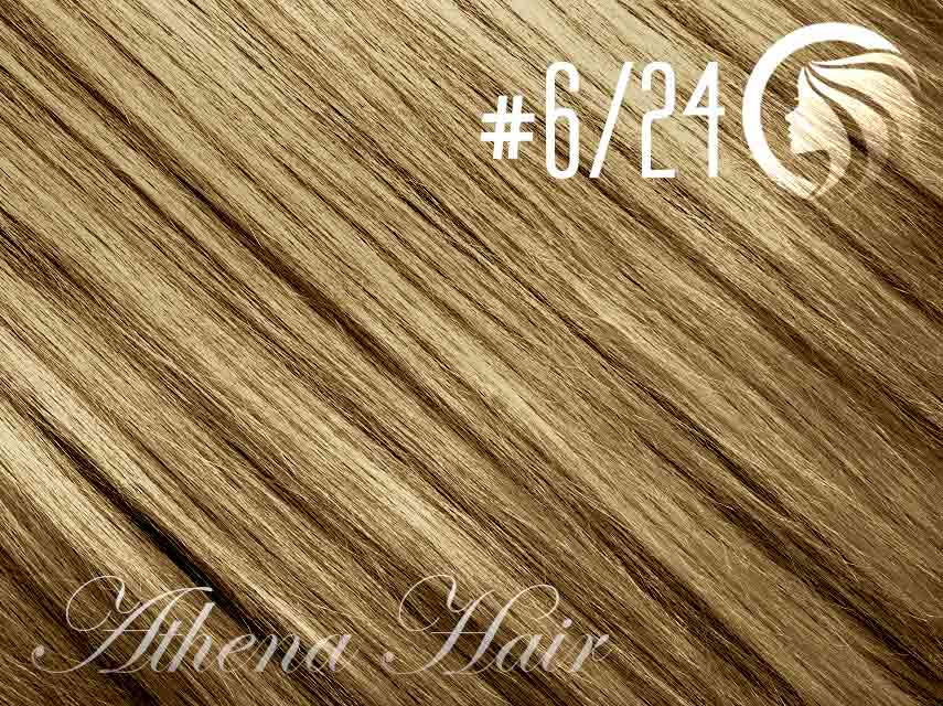 #6/24 Brown/Golden Blonde – 18″ – 1 gram – uTip – Athena (25 strands per packet)