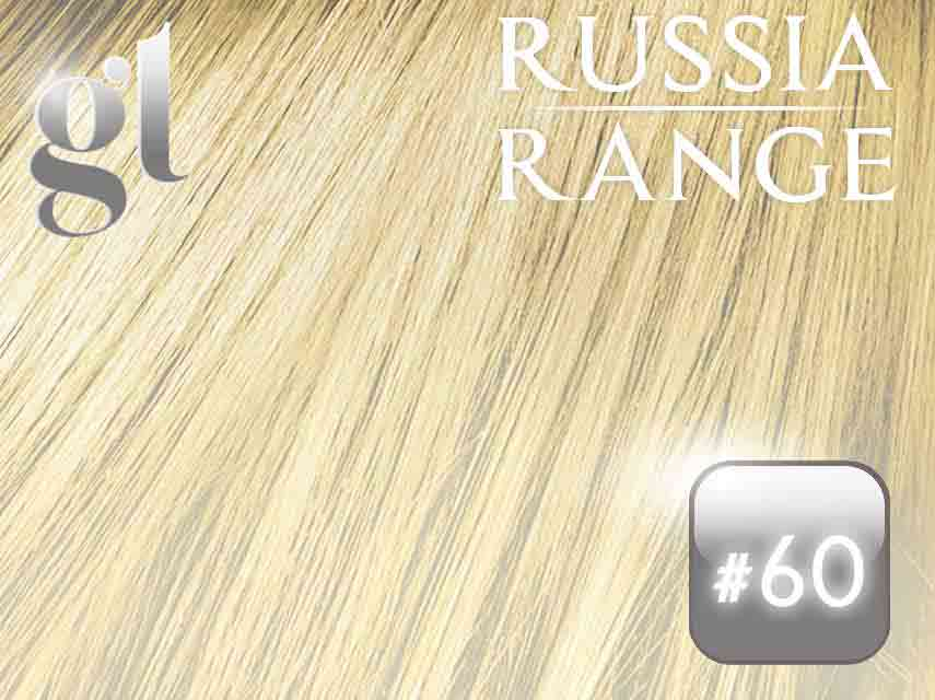 #60 Blonde – 22″- 0.6gram – uTip – Russia Range (50 strands per packet)