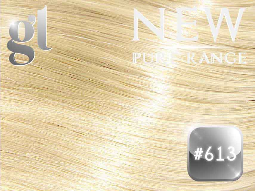 #613 Blonde (NEW Nano tip) – 20″ - 0.8 gram – Pure Range (25 Strands)