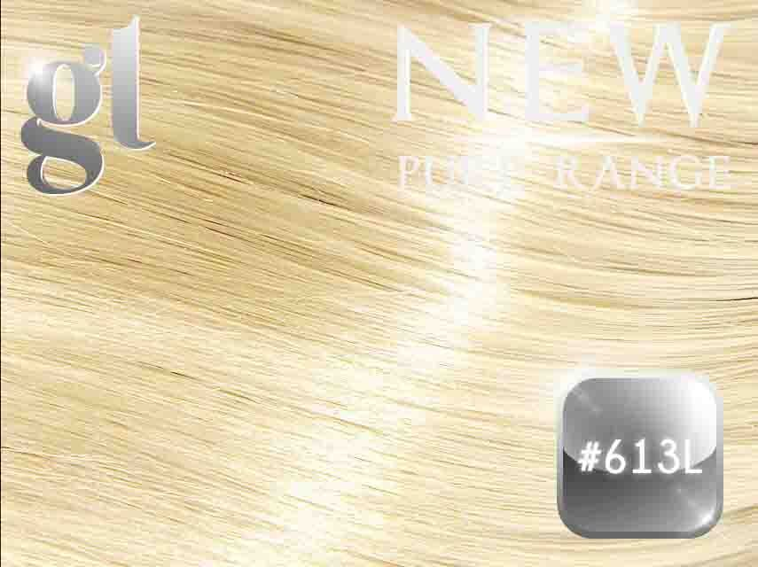 #613L Light Bleach Blonde – 20″ - 0.8 gram – iTip - Pure Range (25 Strands)