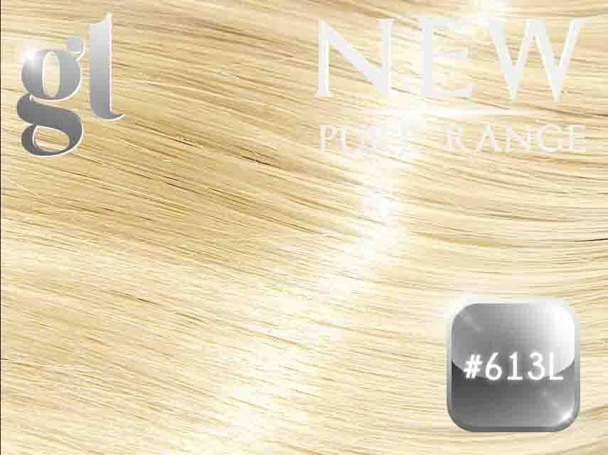 #613L Light Bleach Blonde – 20″ - 0.8 gram – iTip - Pure Range (25 Strands)