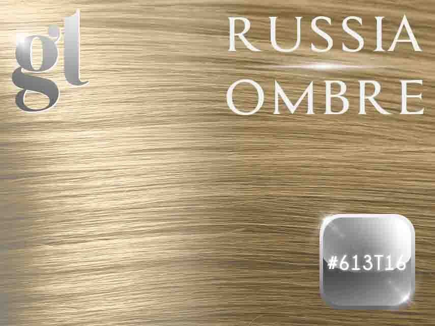 #613T16 Blonde/Ash Blonde – 18″- 1 gram – iTip – Russia Ombre
