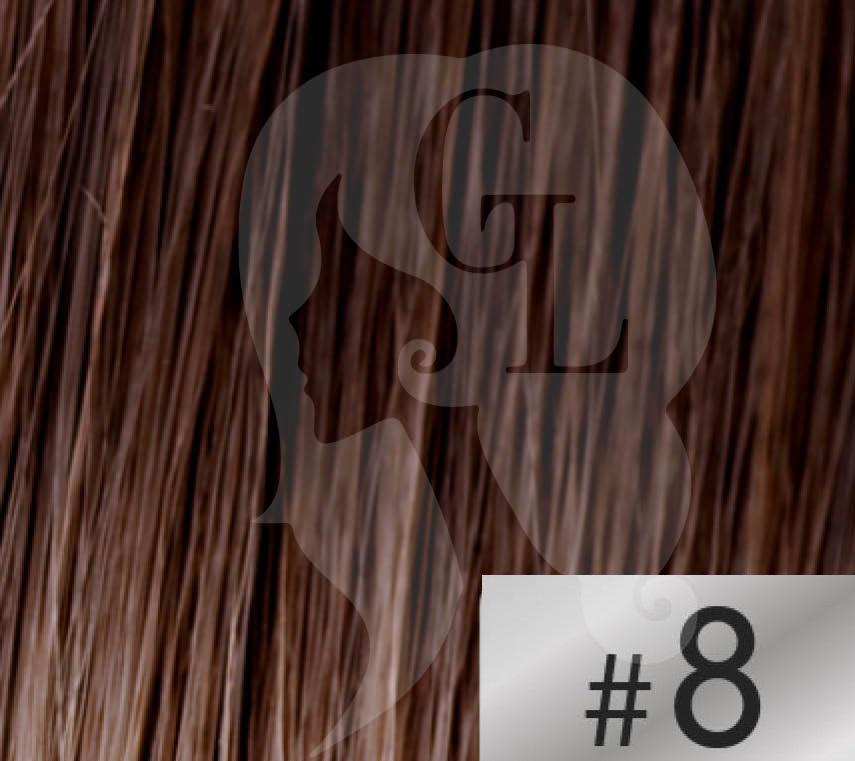 #8 Medium Brown – 18″ – 1 gram – iTip – Athena Range (25 strands per packet)