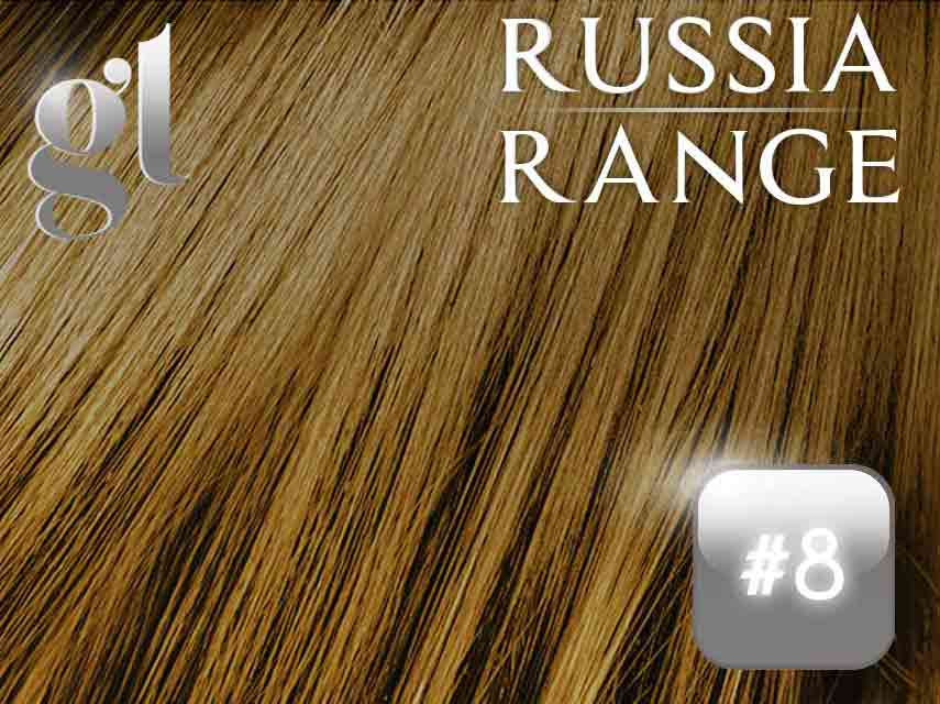 #8 Medium brown– 20″ – 120grams – Weft Russia Range
