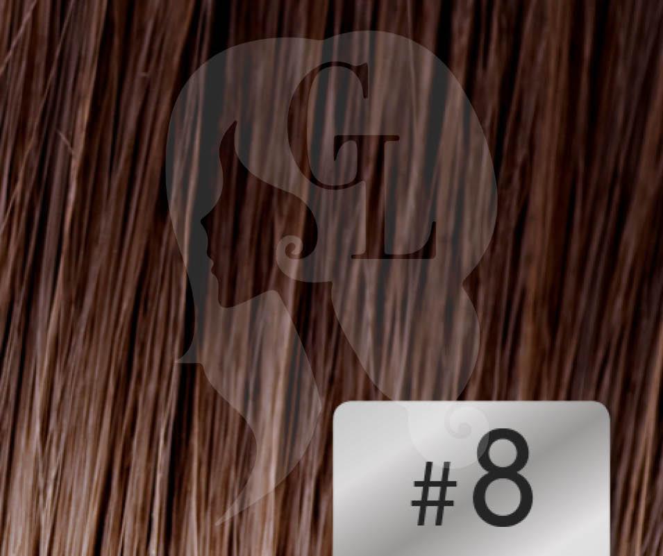 #8 Medium Brown – 18″ – 1 gram – U Tip – Athena Range (25 strands per packet)