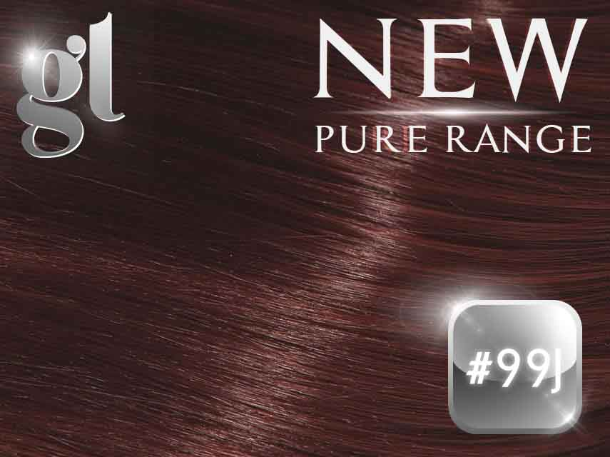 #99J Burgundy (NEW Nano tip) – 20″ - 0.8 gram – Pure Range (25 Strands)
