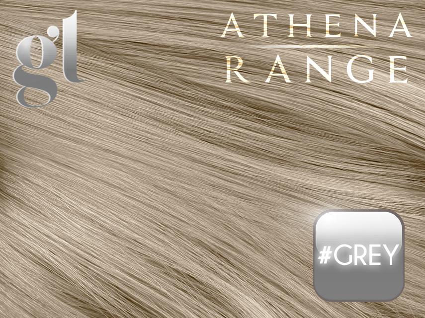 #Grey – 18″ – 0.5 gram – I Tip – Athena Range (50 strands per packet)