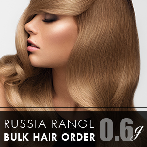 Russia Range 0.6g 500 strands - Bulk Hair Order - 18inch (Consultation Pack)