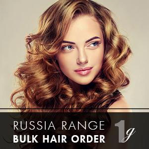 Russia Range 1g 250 strands – Bulk Hair Order – 20inch (Free GL Shampoo)