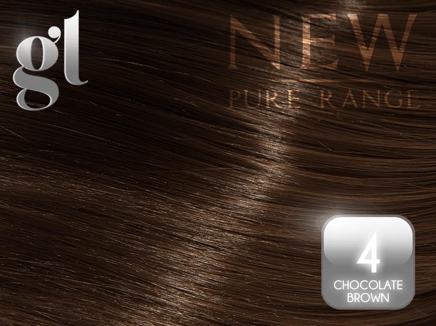#4 Chocolate Brown – ITip – 20″ – 0.8 gram – (25 Strands)