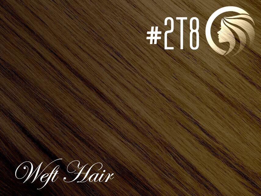 #2T8 Dark Brown/Medium Brown – 18″ – 120 gram – Athena Weft Ombre