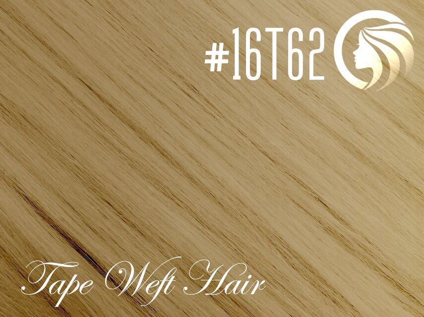 #16T62 Ash Blonde/Light Ash Blonde – 18″ – 60 gram – 24 Pieces – Athena Tape Weft Ombre