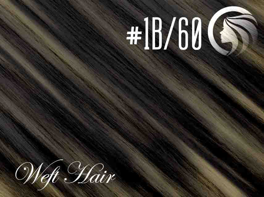 *SALE* #1B/60 Off Black/Blonde – 18″ – 120 gram – Athena Weft