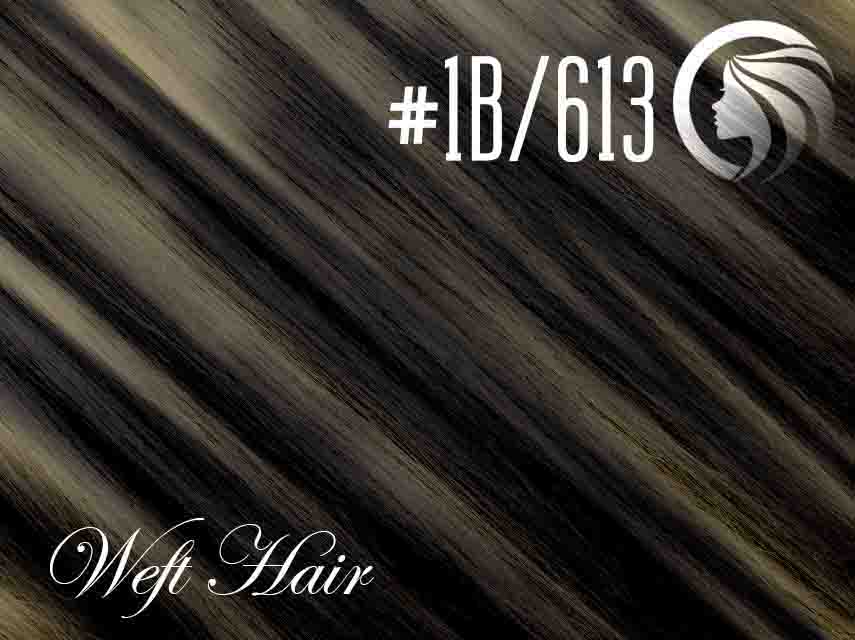 *SALE* #1B/613 Off Black/Blonde – 18″ – 120 gram – Athena Weft