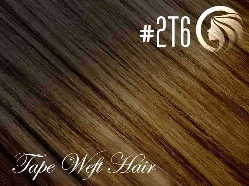 #2T6 Dark Brown/Brown – 18″ – 60g – 24pcs – Athena Tape Hair