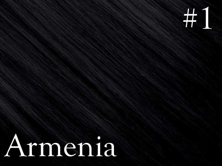 *SALE* #1 Jet black – 20″- 1 gram – Nano (25 strands per packet) -  Armenia Range - NO EXCHANGE / NO REFUNDS CLEARANCE SALE