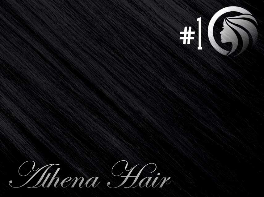 *NEW* #1 Jet Black – 18″ – 120g – 5 Pieces – Clip Ins Athena Hair