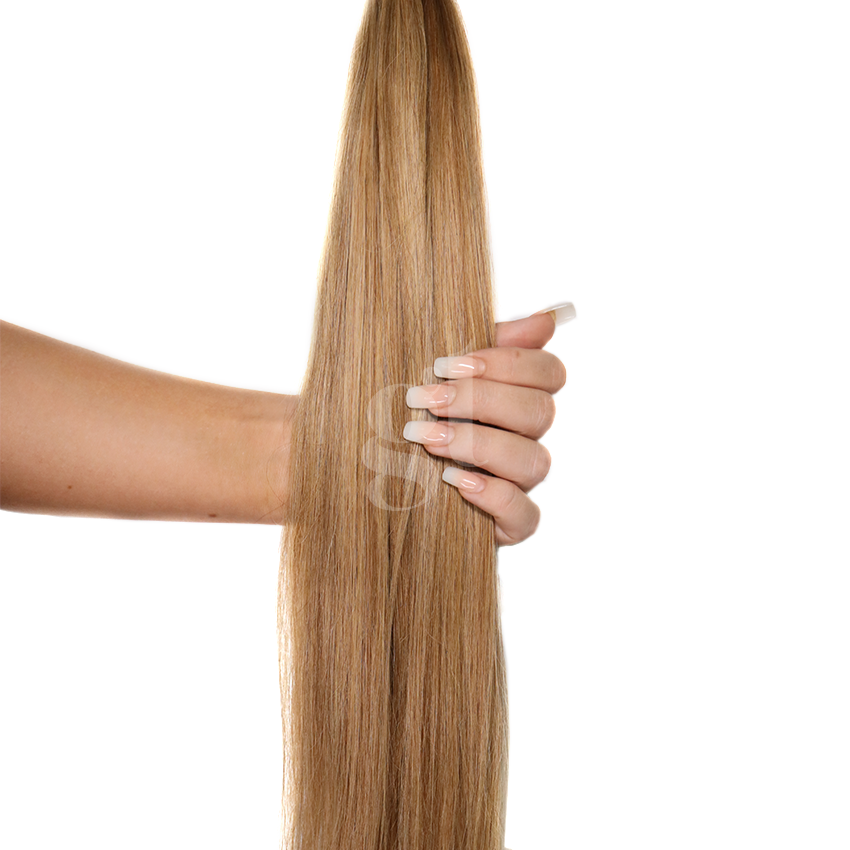 #10/16 Medium Golden Brown/Ash Blonde – 18″ – 1g – iTip – Athena (25 strands)