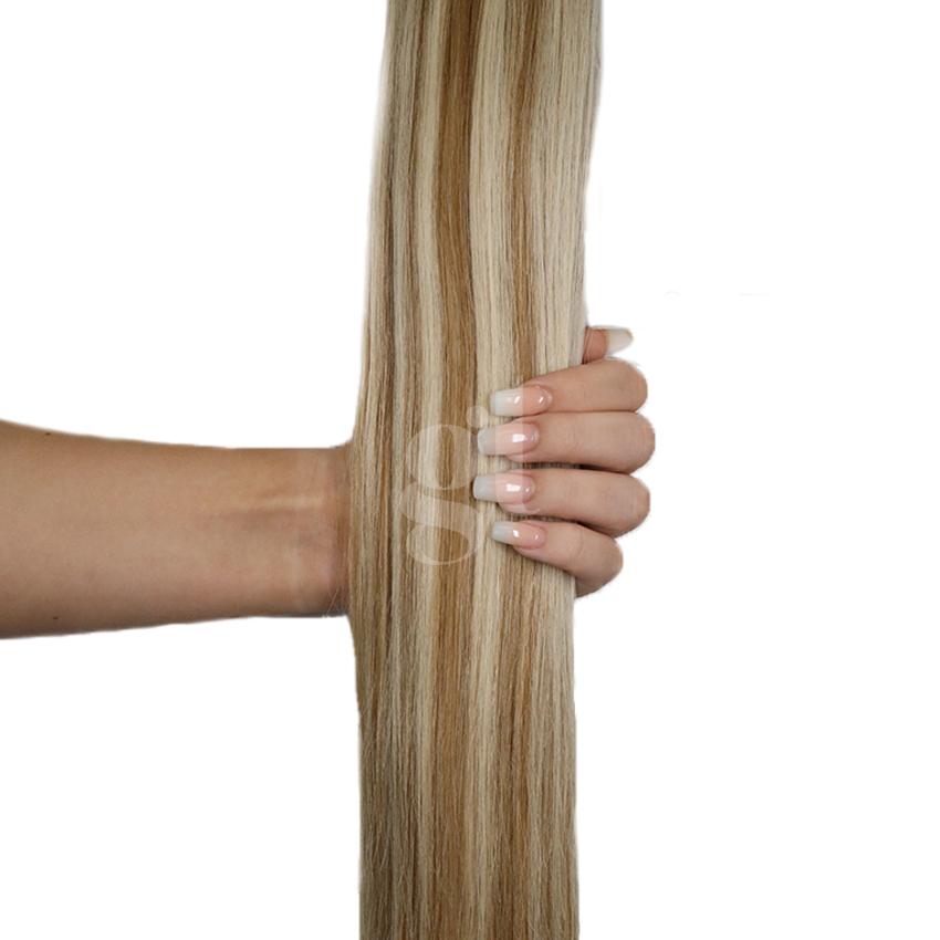 #10/60 Medium Golden Brown/Blonde - Nano tip – 20″ - 0.8g – Pure Range (25 Strands)