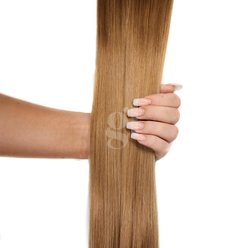 *NEW* #10T16 Medium Golden Brown/Ash Blonde – 18″ – 1g – uTip – Athena (25 strands)
