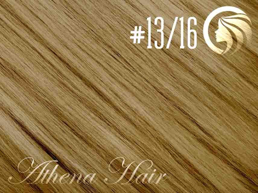 #13/16 Light Golden Brown/Ash Blonde – 18″ – 1 gram – iTip – Athena (25 strands per packet)