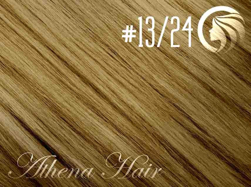 #13/24 Light Golden Brown/Golden Blonde – 18″ – 1 gram – iTip – Athena (25 strands per packet)