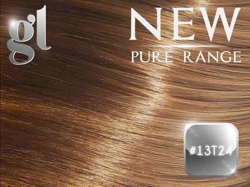 #13T24 Sun Kissed Golden Blonde (NEW Nano tip) – 20″ - 0.8 gram – Pure Range Ombre (25 Strands)
